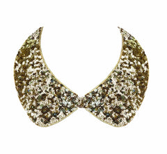 Petra Pan Sequin Collar Necklace--Gold