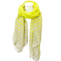 Dots and Spots Scarf -Neon Yellow