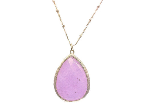 Set in Stone Necklace--Lilac