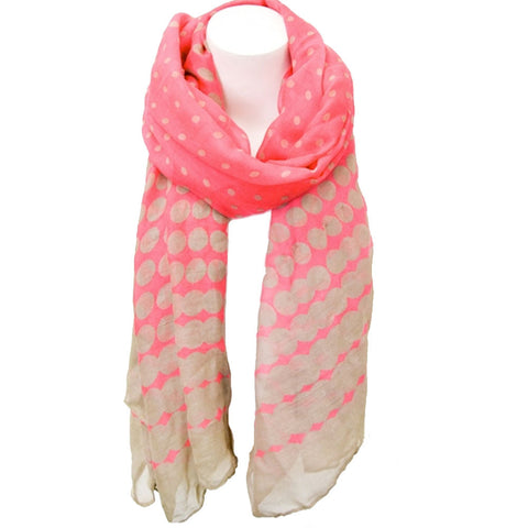 Dots and Spots Scarf-Bright Pink