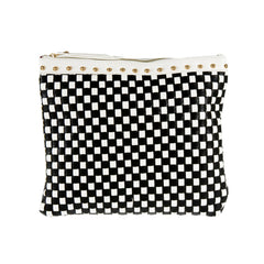 Black & White Basket Weave Clutch