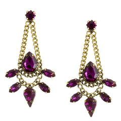 Amethyst of My Eye Earrings