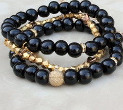 Gold Dust Stack w/ Black Wood