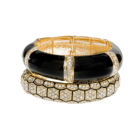 Bella Donna Black & Gold Bangle Stack