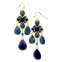 Fantasia Earrings--Blue