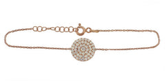 Circle of Trust Pave Disc Bracelet