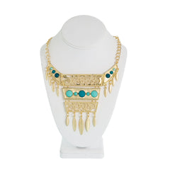 Sheba Bib Necklace-Mint/Teal