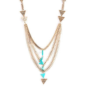 Tribal Triangle Long Necklace