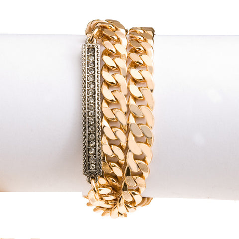 Chain Reaction Wrap Bracelet--Gold