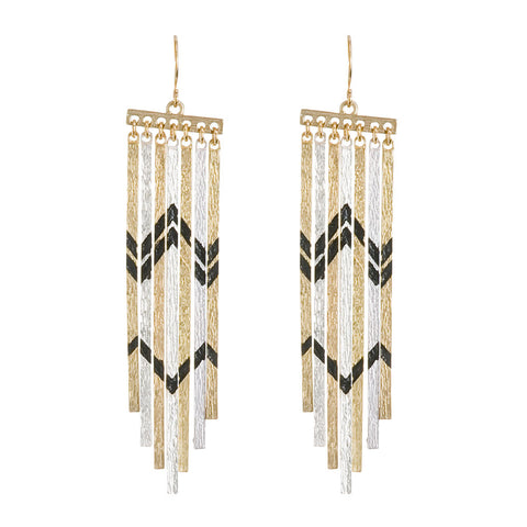 Tribal Luxe Fringe Earrings