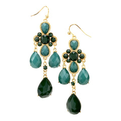 Fantasia Earrings--Green