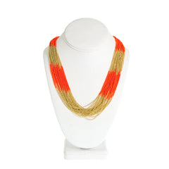 Electra Necklace-- Orange/Gold
