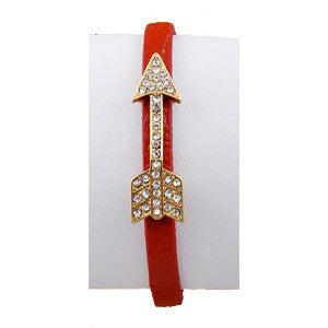 Pave Point your Arrow Bracelet-Red