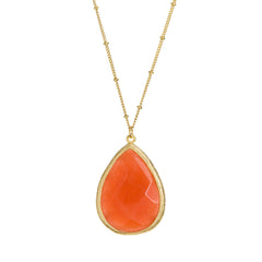 Set in Stone Necklace--Citrus Orange