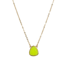 Sophie & Izzy Necklace-Fluor Yellow