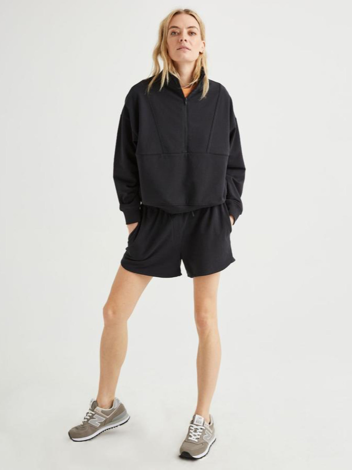 Terry Sweatshort Black