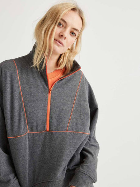 Terry Mockneck Sweatshirt - Grey