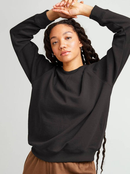 Recycled Crew Sweatshirt - Black