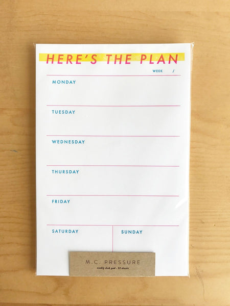 Here's The Plan Notepad