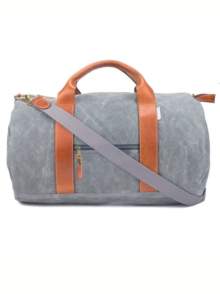 Voyager Waxed Weekender Bag - Charcoal Grey