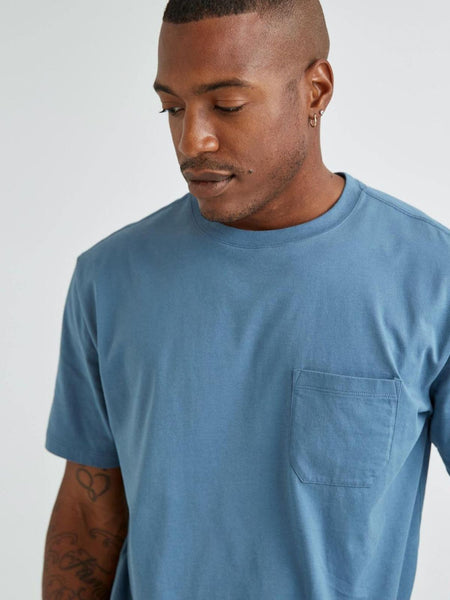 Men's Crew Pocket Tee - Blue Mirage