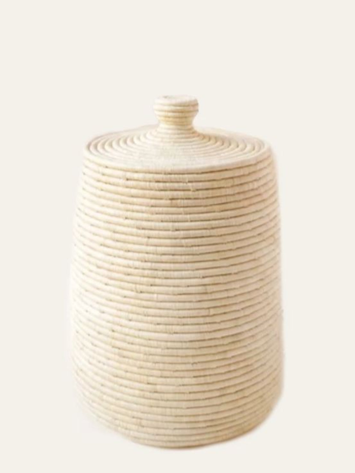Rafia Lidded Basket