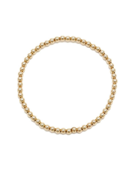 Gold 3 MM Ball Bracelet