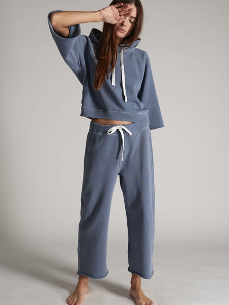 Coco Wide Leg Sweatpant - Faded Teal