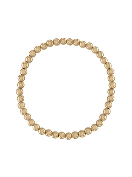 Gold 4 MM Ball Bracelet