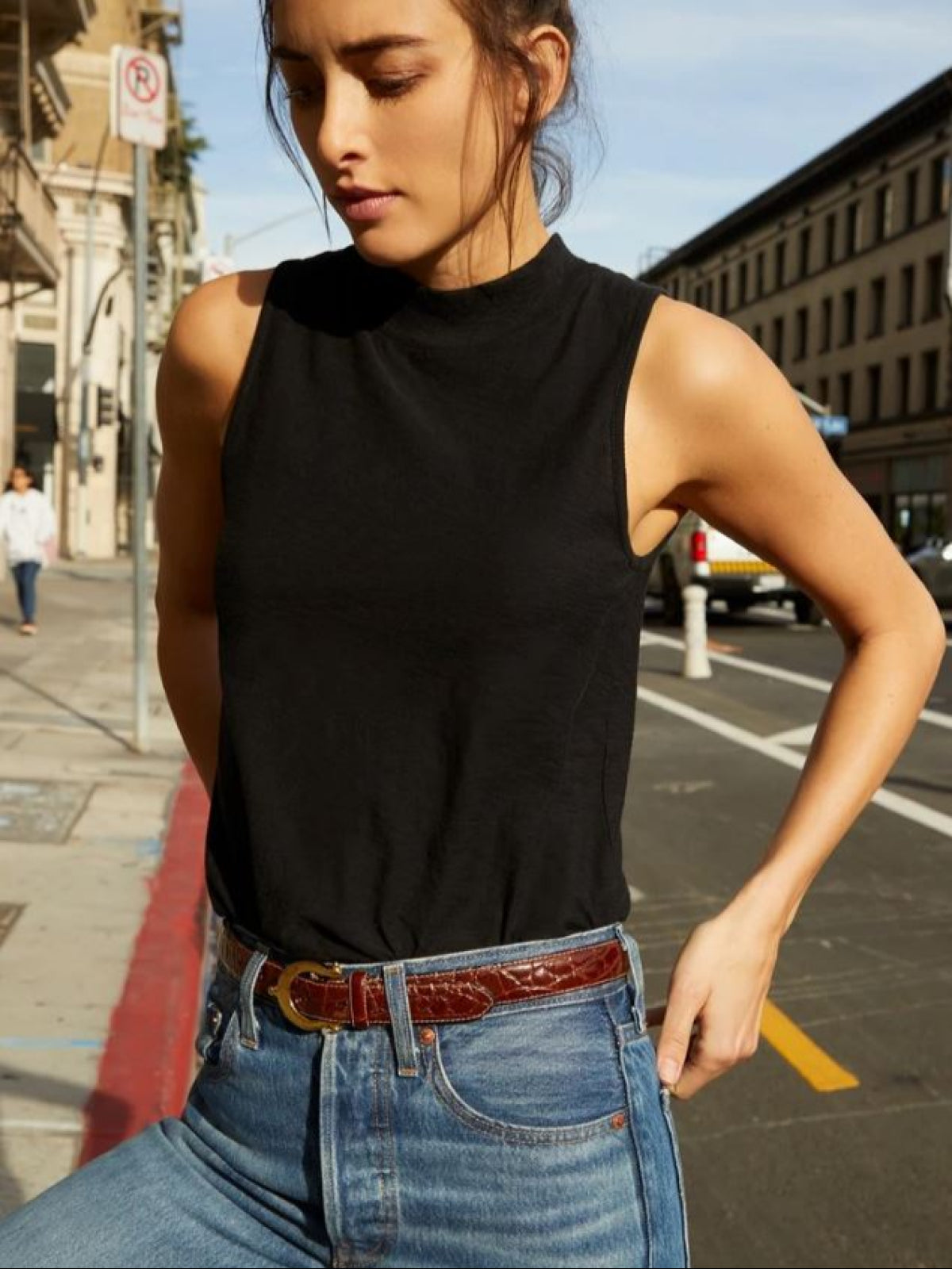 Bria Mock Neck Tank