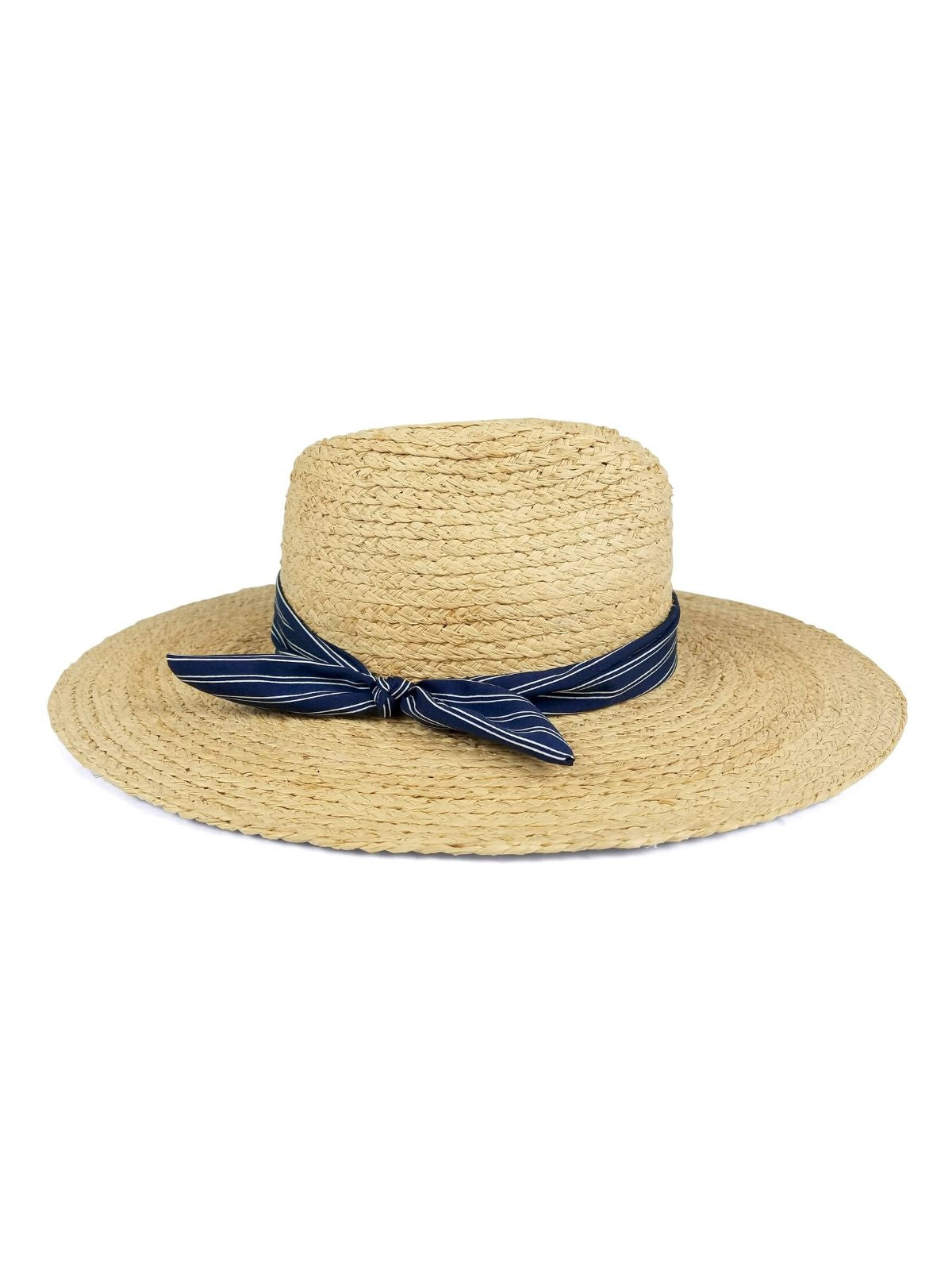 Essential Continental Hat - Navy/White Stripe