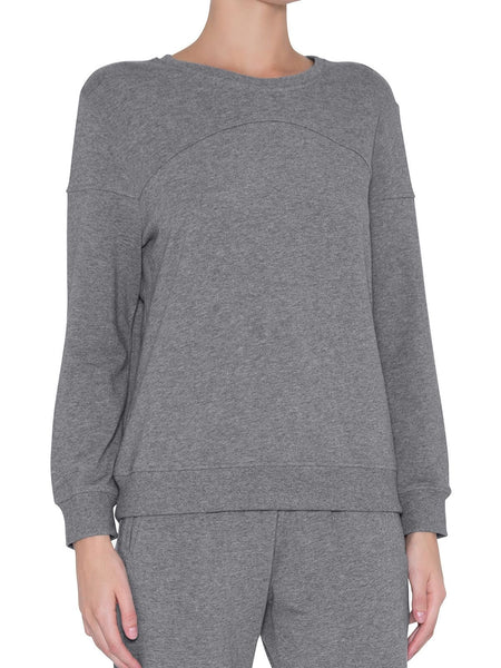 Odile Piped Crew Long Sleeve Top