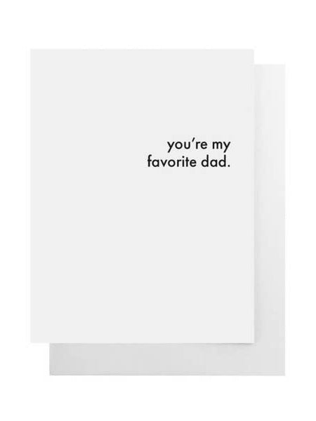 Favorite Dad Card