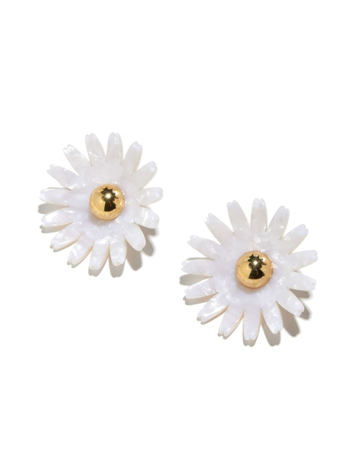 Daisy Button Earring