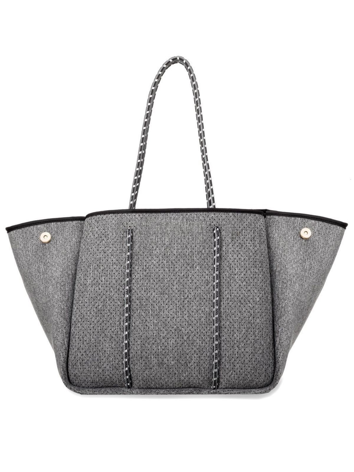 Neoprene Tote - Dark Heather with Charcoal Straps