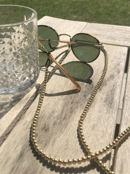 5MM Gold Ball Sunglass Chain