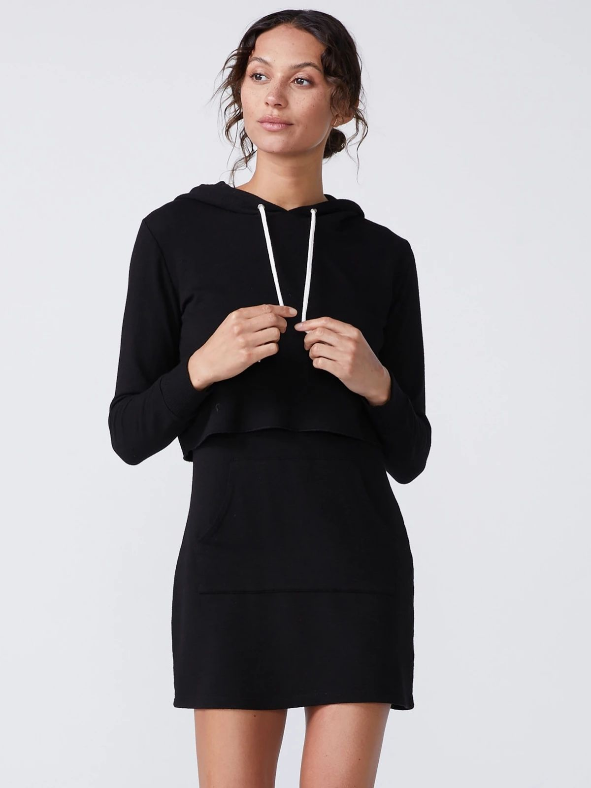 Double Layer Hoodie Dress