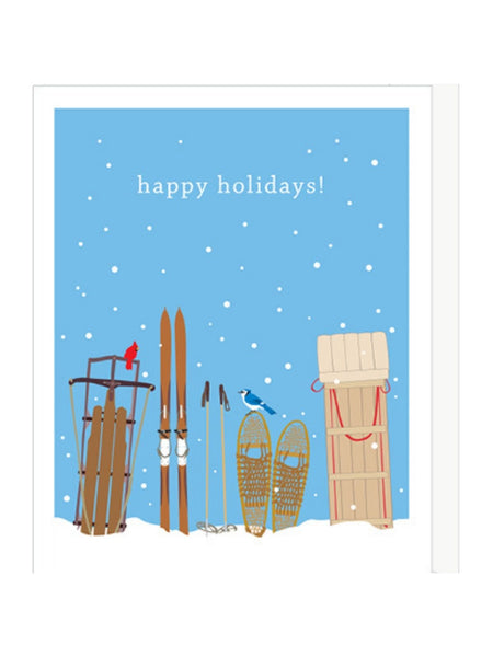 Holiday Sleds Card