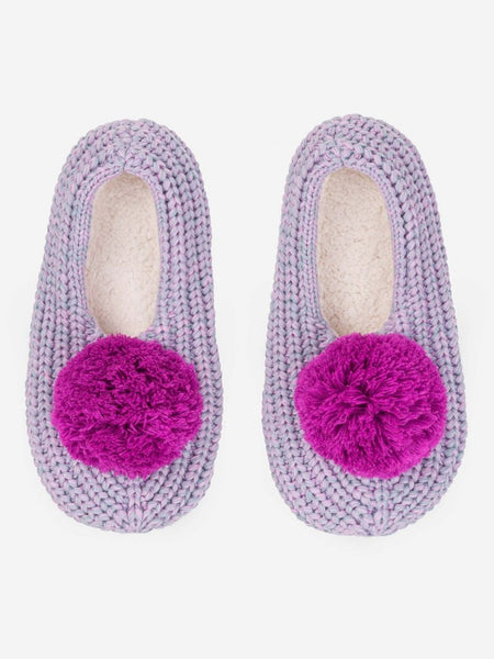 Pommed Rib Slippers - Lilac