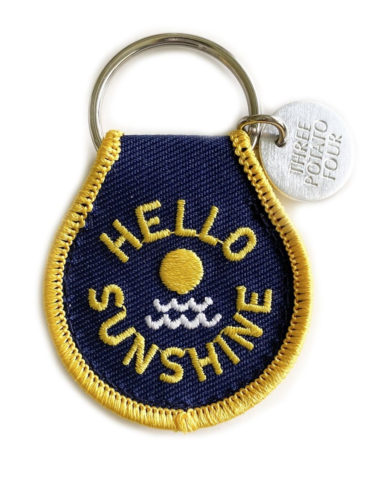 Hello Sunshine Patch Keychain