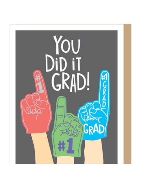 Foam Finger Grad Card
