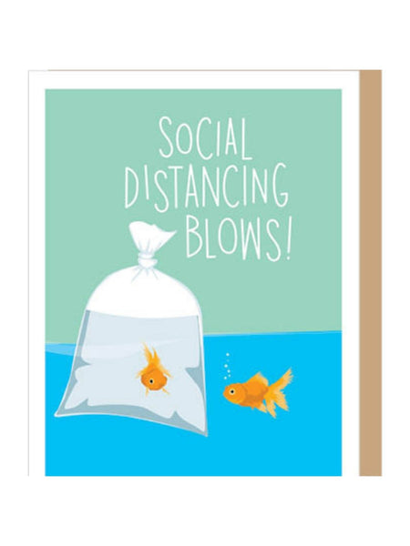 Social Distancing Blows Card