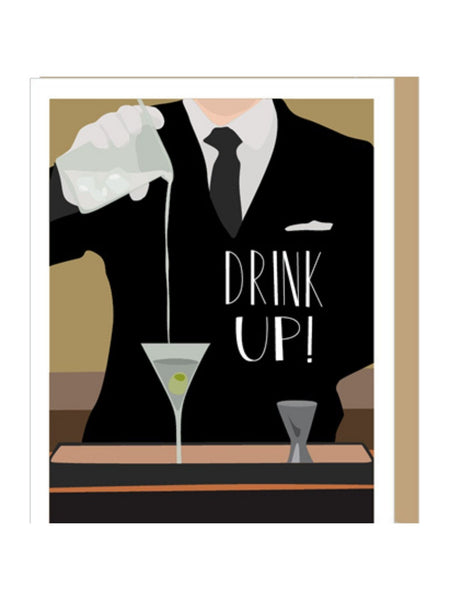 Drink Up Birthday Card