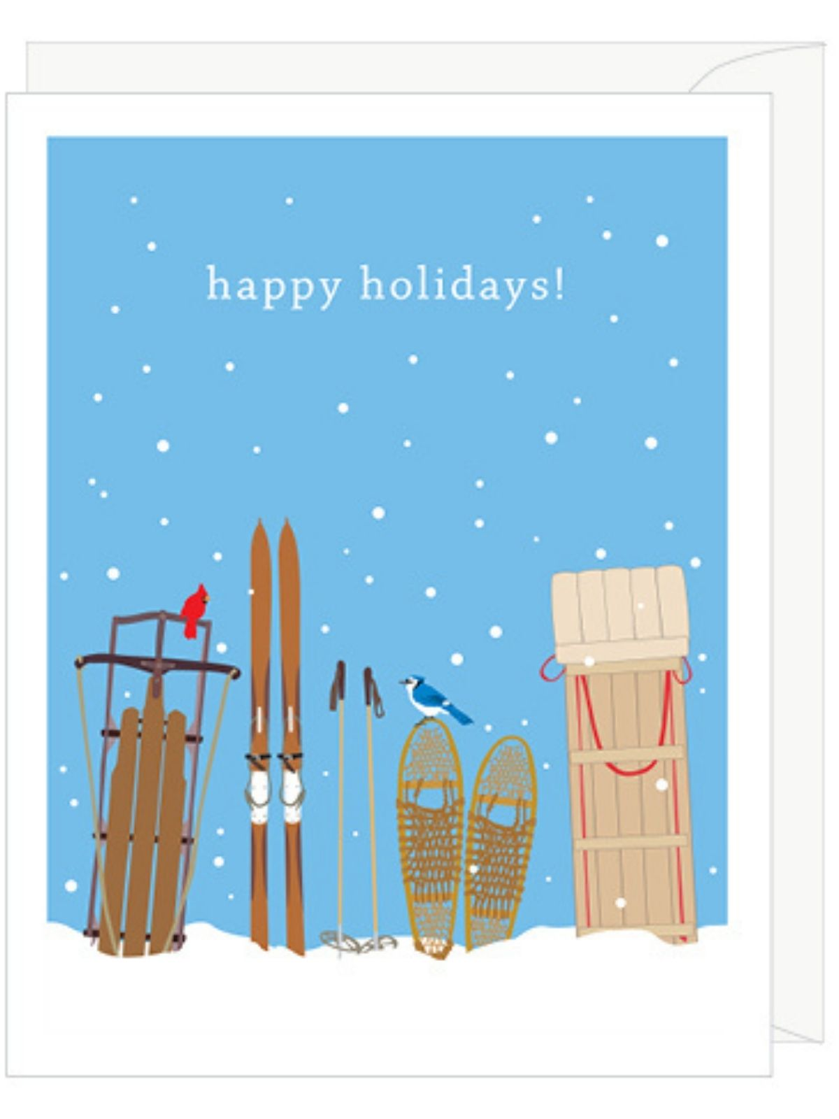 Holiday Sleds Cards Box of Ten
