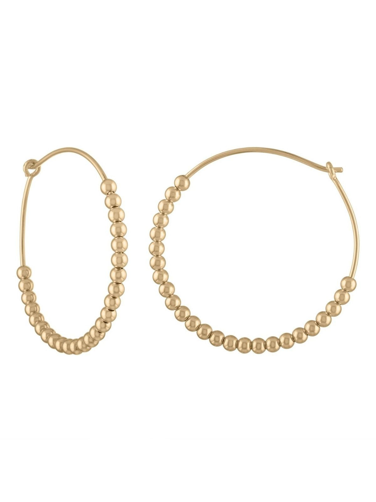 Large Ball Hoop Earring