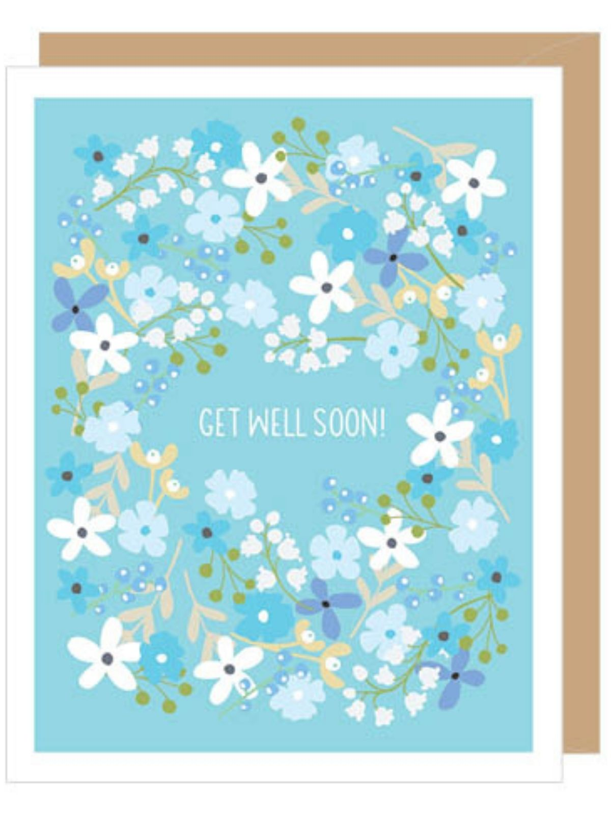 Floral Get Well Soon Card