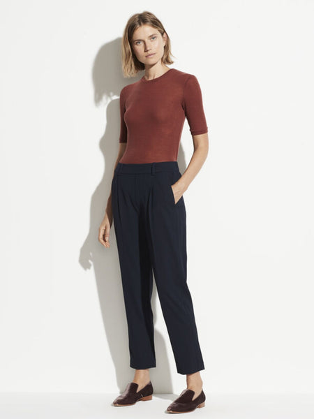 Side Strap Pull On Pant -  Navy