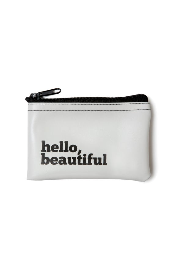 Hello Beautiful Zip Pouch