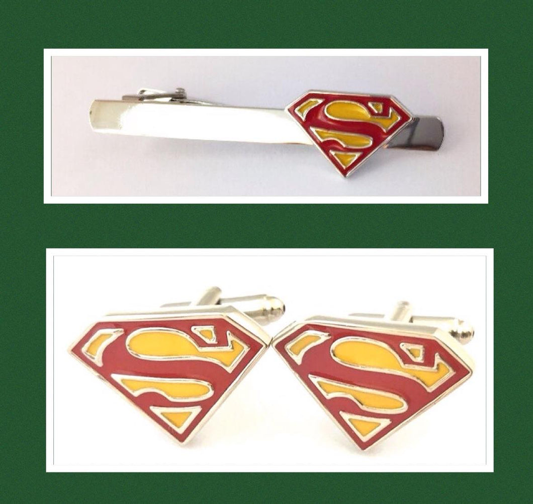 Superhero Tie Clip and Cufflinks 5