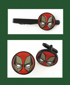 Superhero Tie Clip and Cufflinks 16